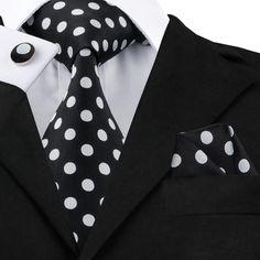 20 Styles Vogue Men Silk Tie Set Plaids&Checks Necktie Hanky Cufflinks Set for Wedding Business Men's Pocket Squares, Tie And Pocket Square, Paisley, Kids Ties, Polka Dot Tie, Vogue Men, Cufflink Set, Kinds Of Clothes, Men Clothes