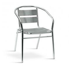 € 59,00 VIOLA #sedia da esterno con braccioli, ideale per il #giardino e l'#outdoor di un #bar, #caffetteria, #albergo. Leggera, impilabile, realizzata in alluminio, in #offerta #prezzo su www.chairsoutlet.com