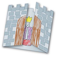 Who or what is inside the castle. Youngsters decide with this fun project. Perfect to use as a craft for the letter C.