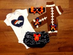 Denver Broncos Game Day Outfit by BebeSucreOnline on Etsy, $45.00