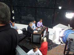 "2013 Daytona 500 ""Victory Lane"" show in Victory Lane! John Roberts, Kyle Petty and Kenny Wallace"