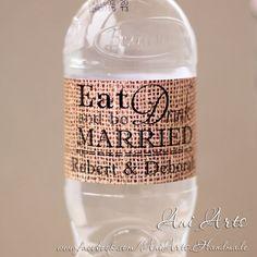 Rustic Wedding Bottle Labels Personalized Burlap Bottle by AniArts Happy rela… Donut Decorations, Wedding Bottles, Rhyme And Reason, Personalized Labels, Do Exercise, Happy Relationships, Domestic Violence, Bottle Labels, Drink Bottles