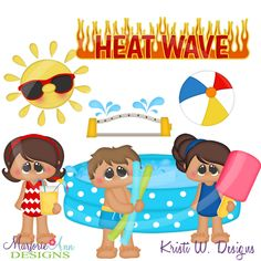 Heatwave Fun~SVG-MTC-PNG plus JPG Cut Out Sheet(s) Our sets also include clipart in these formats: PNG & JPG