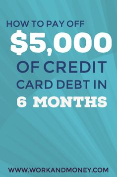Get rid of your credit card debt, fast.  Here's how to pay down your debt.