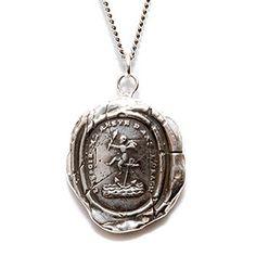 Pyrrha Design Cherub Necklace - anchor symbolizes hope