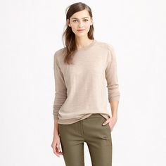 This is the wear-with-everything sweater you've been looking for. It's designed with a longer, rear-covering length that's a tad shorter in front (so you can still tuck it into a pair of trousers). Even better? The mix of cotton and merino wool makes it light but still warm enough for chilly spring mornings. <ul><li>Relaxed fit.</li><li>Hits slightly below hip.</li><li>Merino wool/cotton.</li><li>Rib trim at neck and cuffs.</li><li>Dry clean.</li><li>Import.</li></ul>