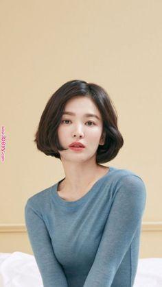 ヘアスタイル ヘアスタイル in 2020 Asian Short Hair, Short Hair Cuts, Iu Short Hair, Asian Bob, Long Hair, Shot Hair Styles, Song Hye Kyo, Hair Reference, Hair Inspo