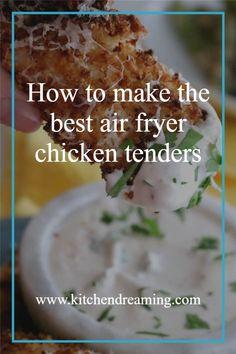 Air Fryer Chicken tenders, crisp and juicy in just 12 minutes - Garlic Parmesan are my favorite flavor. This easy weekend dinner is kid friendly but adults love them too!