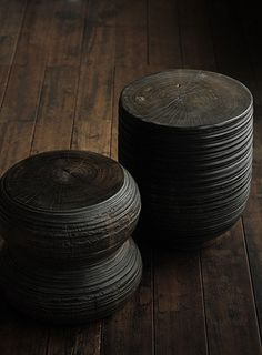 dark wood end tables
