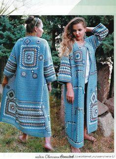 Super Ideas For Baby Crochet Cardigan Pattern Inspiration Crochet Poncho Patterns, Crochet Coat, Crochet Cardigan Pattern, Crochet Jacket, Crochet Blouse, Crochet Clothes, Crochet Beach Dress, Pull Crochet, Long Sweater Coat