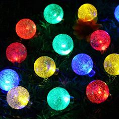 30 LED Globe Connectable Festoon Party Ball string lamps led Christmas Lights fairy wedding garden pendant garland #Affiliate