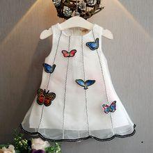 2017 Летние Новых Корейских модные девушки свежий sweet veil прекрасный стереоскопический бабочка аппликация платье принцессы Бесплатная доставка(China (Mainland))