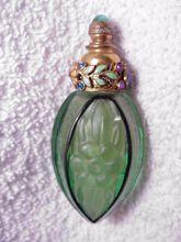 Vintage Czech Jeweled & Enamel Perfume Bottle Vial
