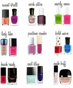 Die Makeup Lady – Mani Pedi Combos Most women change their nails as often as the wind changes direction or sometimes with an outfit change. I'm the type of lady that experiments at home and leaves the look for at least two weeks bef… – Glitzernde Nägel Nail Polish Combinations, Nail Color Combos, Nail Polish Art, Nail Polish Colors, Nail Art, Mani Pedi, Manicure And Pedicure, Pedicures, Love Nails