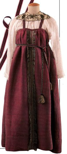 Russian peasant bride's gown, the 10-12th centuries