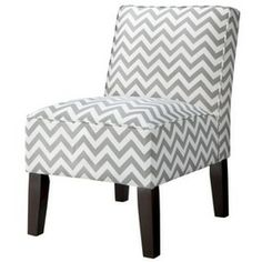 Target Mobile Site   Armless Upholstered Accent Slipper Chair   Grey  Chevron I Have This Chair In The Medallion Print And I Love It!
