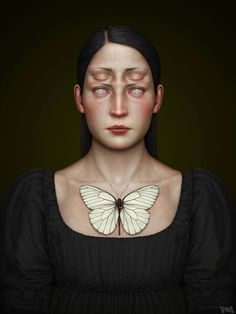 A very weird and haunting piece from Italian artist Tenia.  Creepy, weird and scary but we totally dig it.