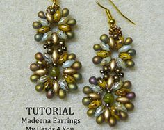 Beaded Earring Tutorial, SuperDuo Beads, Seed Bead Earrings, Earring Tutorial, Earring Pattern, Seed Bead Earring Tutorial, MyBeads4You