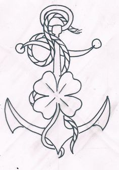 traditional tattoo flash #anchor tattoo #old school tattoo Aaron