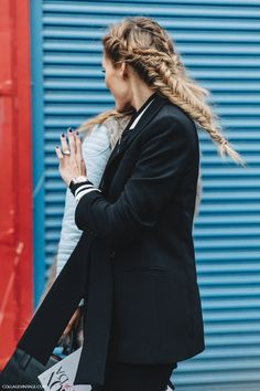 NYFW New York Fashion Week Fall/Winter 16 StreetStyle Olivia Palermo Braids - February 17, 2016
