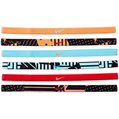 Nike Printed Headbands Assorted 6-Pack Headband ($15) ❤ liked on Polyvore featuring accessories, hair accessories, hair band headband, headband hair accessories, stretchy headbands, moisture wicking headband and head wrap hair accessories