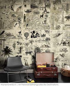 Behangcollectie Destinations van MR. Perswall #interieur