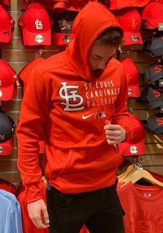 Nike St Louis Cardinals Mens Red AC Logo Stack Hood - 17321114 Ac Logo, St Louis Cardinals, Great Books, Nike, Shirts, Men, Shopping, Guys, Dress Shirts