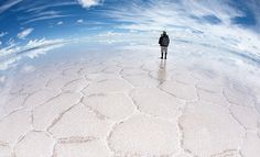 Deserto de sal de Uyuni, Bolívia.