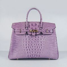This kind Hermes Birkin Bag 30 Crocodile Head with Silver hardware (Violet/Purple) the latest popular, unique style and very fashionable. Hermes Birkin, Hermes Bags, Birkin Bags, Purple Handbags, Purple Bags, Hermes Handbags, Designer Handbags, Backpack Handbags, Designer Bags