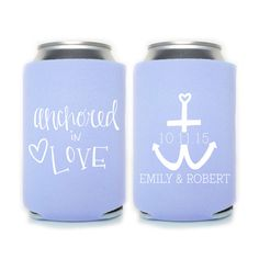 Personalized 2 Two Less Fish In The Sea Bridal Wedding Favors Can Coolers Beach Custom Beverage Insulators Beer Huggers Pinterest
