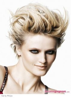 teased hairstyles for short hair - Bing Images