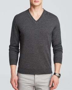The Men's Store at Bloomingdale's Merino V-Neck Sweater - Bloomingdale's Exclusive