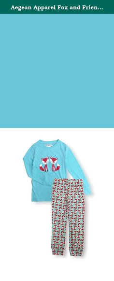 Aegean Apparel Fox and Friends Printed PJ Set, Polyester Jersey Knit, S-XL (XL (14)). Perfect for bedtime & sleepovers, she'll love to get cozy in this super cute Fox and Friends Printed PJ Set by Aegean Apparel! These leggings feature a super comfy Polyester Jersey knit with a vibrant print and an easy fit elastic waistband. The matching Long Sleeve Top is made of a Polyester Jersey knit. This product complies with the Children's Sleepwear Standard under the Flammable Fabrics Act and...