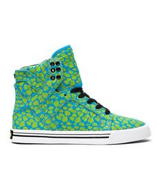 Love this Turquoise & Yellow Skytop Hi-Top Sneaker - Women by SUPRA on #zulily! #zulilyfinds