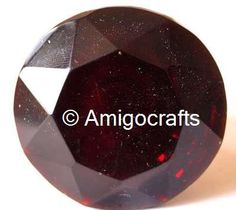 Very Beautiful Dark Red Faceted Glass Knob