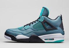 "A Detailed Look at the Air Jordan 4 Retro ""Teal"" - SneakerNews.com"