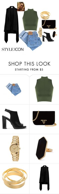 """""""style"""" by chisomnatalie on Polyvore featuring Levi's, WearAll, Michael Kors, Prada, Gucci, Jaeger and Madeleine Thompson"""