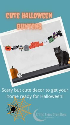 Scary but cute Halloween bunting! Perfect Halloween decor to brighten up you home for your Halloween party or for a cute Halloween window display. A handcrafted Halloween banner that comes with approx 2.5m of twine. All the characters can be moved around so the bunting fits into your space. Happy Halloween Banner, Halloween Bunting, Halloween Make, Halloween Decorations, Halloween Window Display, Cute Characters, Cute Gifts, Scary, Canvas