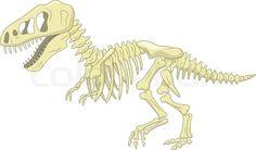 Image result for t rex bones cartoon