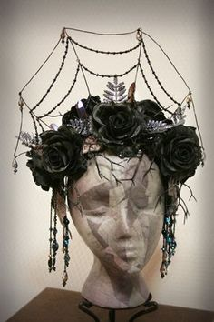 Gothic spider web headdress :The Dark Crystal by TheSistersBrimm