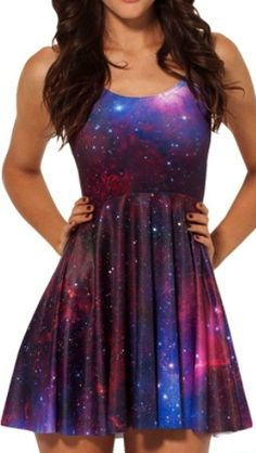 Galaxy Purple Skater Dress. Would even be casual Friday cute if you topped it with a little cardigan.
