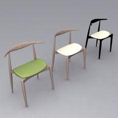 wegner ch20 elbow chair 3d model - Wegner CH20 Elbow Chair... by David_Turner