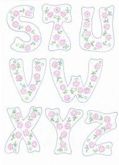patrones de letras | Aprender manualidades es facilisimo.com