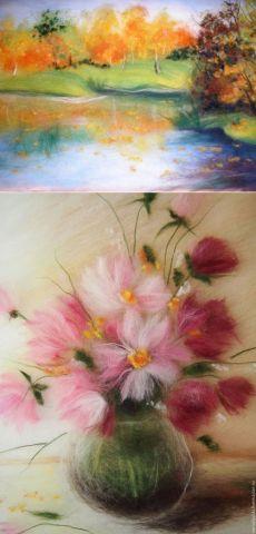 Картины, написанные шерстью, МК — Рукоделие