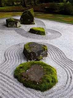 Zen Japanese Garden designed by Koichi Kawana @ Bloedel Reserve on Bainbridge Island in Seattle