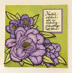 Artfully Articulate #cre8time in colorful posies. #Stampendous #DesignMemoryCraft