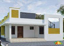 Trendy home exterior paint ideas porticos Ideas Village House Design, Bungalow House Design, House Front Design, Front Elevation Designs, House Elevation, Flat Roof House, Beautiful Small Homes, House Design Pictures, Exterior Design