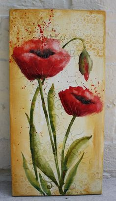 """Art du Jour by Martha Lever: """"Painting Poppies"""" with Absorbent Ground"""