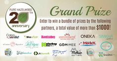 Enter for your chance to win a bundle of prizes by our 18 partners, a total value of more than $1000! ! Follow Pure Hazelwood on social media for more giveaways to come. Ends on Oct. 29. Best of luck!