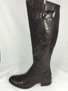 BORN CROWN-Size 8-Black Pebble Leather Calf High Platform Boots-PERFECT  #Brn #FashionMidCalf   recovering shoe obsession   Pinterest   Black  pebbles, ...